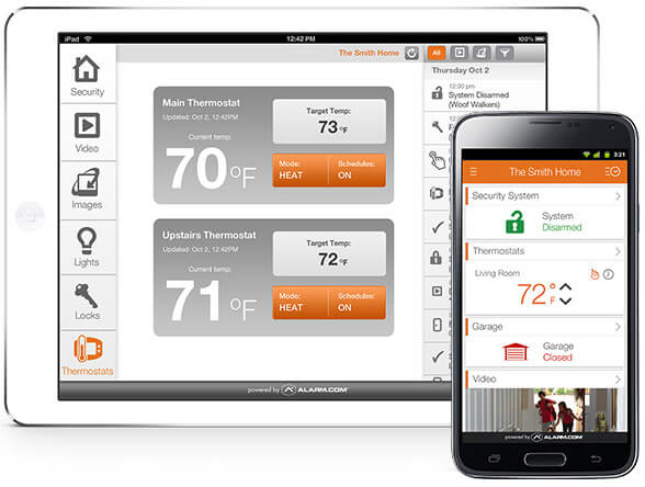 Alarm.com Tablet, Automation, Greenville South Carolina